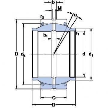 50.8 mm x 80.963 mm x 76.2 mm  SKF GEZM 200 ES-2RS подшипники скольжения