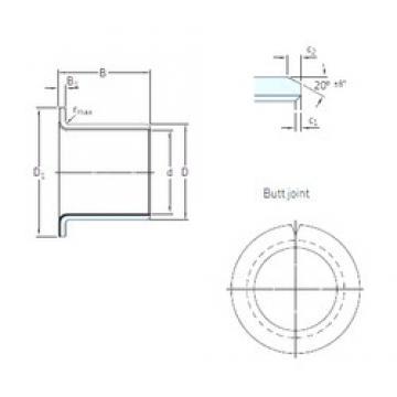 12 mm x 14 mm x 9 mm  SKF PCMF 121409 E подшипники скольжения