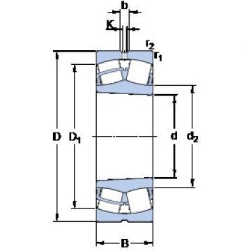 440 mm x 600 mm x 118 mm  SKF 23988 CCK/W33 сферические роликоподшипники