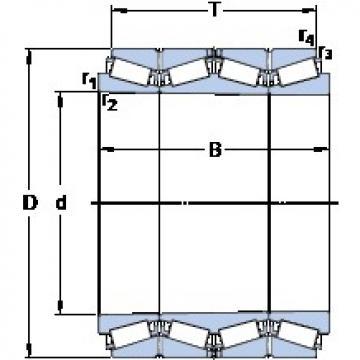 669.925 mm x 933.45 mm x 725.488 mm  SKF BT4B 332928/HA1 конические роликовые подшипники