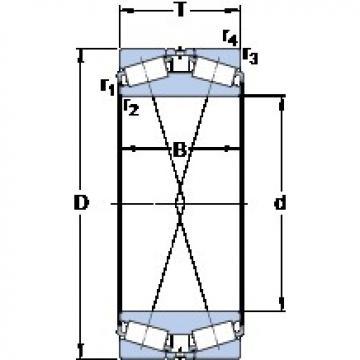 254 mm x 438.15 mm x 165.1 mm  SKF BT2B 332536/HA1 конические роликовые подшипники