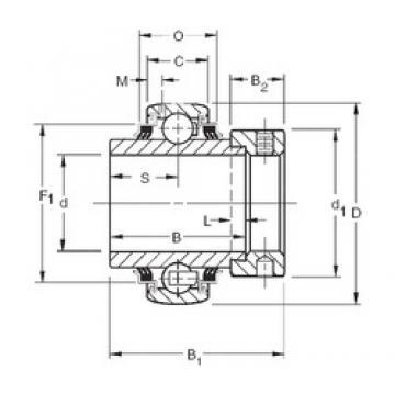 45 mm x 85 mm x 42,86 mm  Timken GE45KPPB4 радиальные шарикоподшипники
