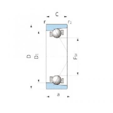 IJK ASA3046 радиально-упорные шарикоподшипники