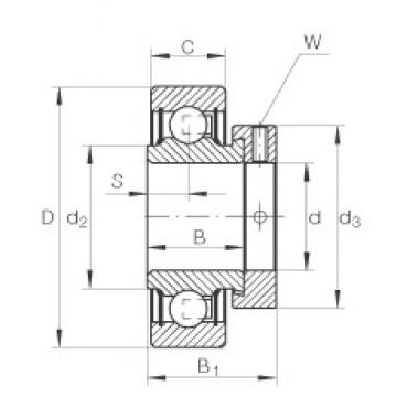 50 mm x 90 mm x 30,2 mm  INA RAE50-NPP-FA106 радиальные шарикоподшипники