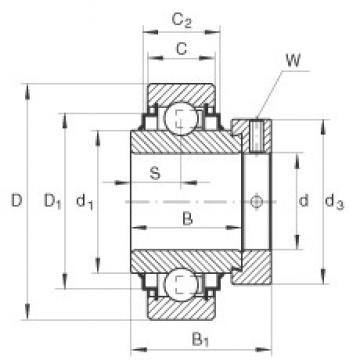 30 mm x 62 mm x 36,5 mm  INA E30-KRR радиальные шарикоподшипники