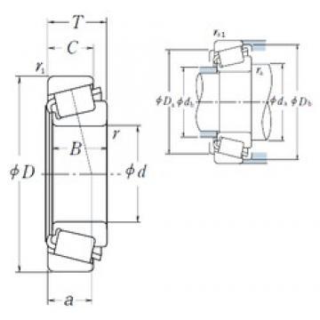 60,325 mm x 135,755 mm x 56,007 mm  NSK 6376/6320 конические роликовые подшипники