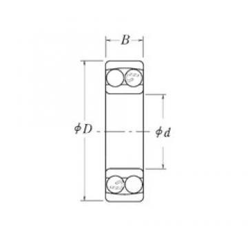 19.05 mm x 47,625 mm x 14,2875 mm  RHP NLJ3/4 самоустанавливающиеся шарикоподшипники