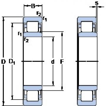 360 mm x 540 mm x 82 mm  SKF NU 1072 MP упорные шарикоподшипники