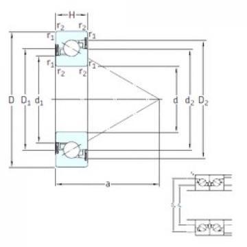 45 mm x 100 mm x 20 mm  SKF BSD 45100 CG-2RZ упорные шарикоподшипники