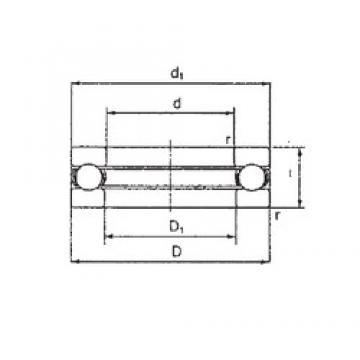 FBJ 2904-1/2 упорные шарикоподшипники