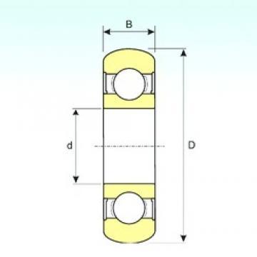 20 mm x 47 mm x 14 mm  ISB 6204-2RS BOMB радиальные шарикоподшипники