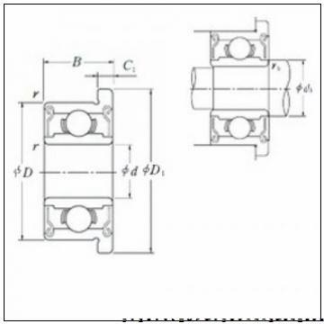 70 mm x 125 mm x 39.7 mm  NACHI 5214AZ радиально-упорные шарикоподшипники