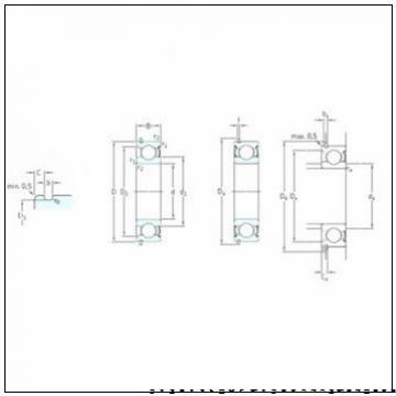 35 mm x 148,1 mm x 56,3 mm  PFI PHU2197 радиально-упорные шарикоподшипники