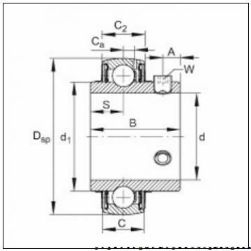 35 mm x 62 mm x 14 mm  FAG B7007-C-T-P4S радиально-упорные шарикоподшипники