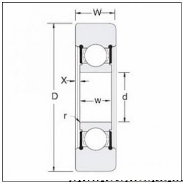 420 mm x 760 mm x 109 mm  NSK 7284A радиально-упорные шарикоподшипники