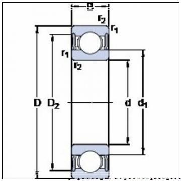 360 mm x 480 mm x 56 mm  SKF 71972 CDMA/P4A радиально-упорные шарикоподшипники